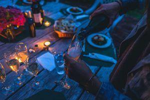 Velada con cena y champán