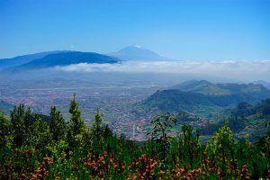 Vistas de la isla de Tenerife